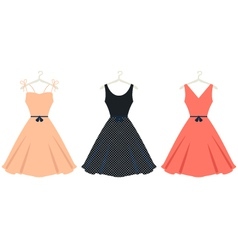 Beautiful retro summer dress set isolated on white vector image vector image