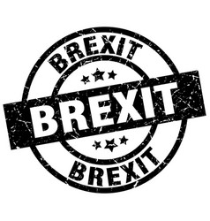 Brexit round grunge black stamp vector