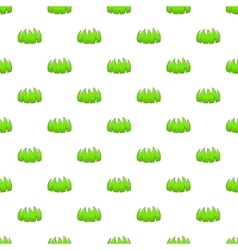 Bushes pattern cartoon style vector