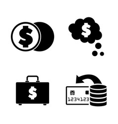 cash simple related icons vector image vector image