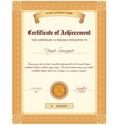 Certificate template vertical vector