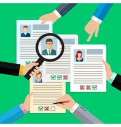 Concept of searching professional staff vector image vector image