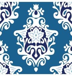 Damask flower seamless vector image vector image