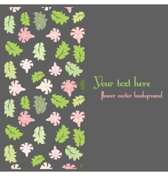 floral postcard template vector image