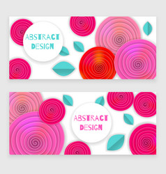 Flower banner holiday vector