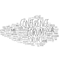 Forums word cloud concept vector