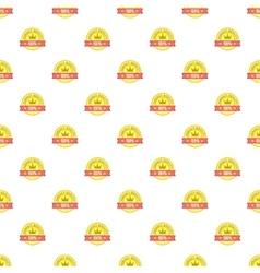 Golden label pattern cartoon style vector