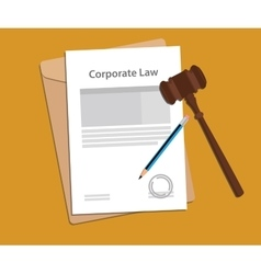Legal concept of company law vector