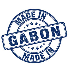 made in gabon blue grunge round stamp vector image vector image