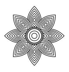 mandala flower decorative ethnic element adult vector image