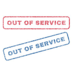 out of service textile stamps vector image