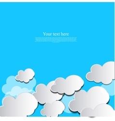 paper cloud design vector image vector image