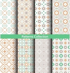 Patterns pastel green backgrounds vector