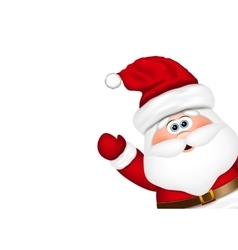 Santa claus look from the side vector