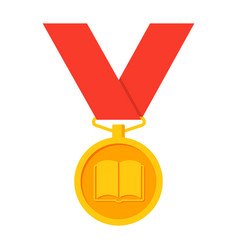 school medal icon vector image