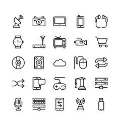 Science and technology line icons 11 vector