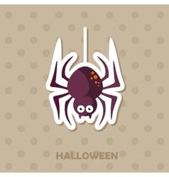 Spider icon halloween sticker vector