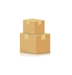Stacking box isolated on white background vector image