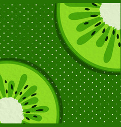 summer background with kiwi vector image vector image