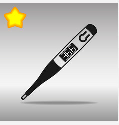 Thermometer black icon button logo symbol vector