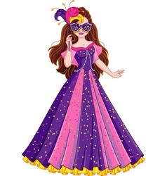 Princess masquerade vector
