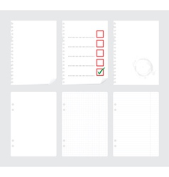 Notepaper vector