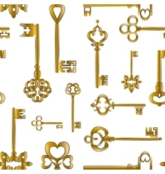 Ornamental medieval vintage keys pattern vector