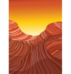 abstract red mountrain and sky vector image