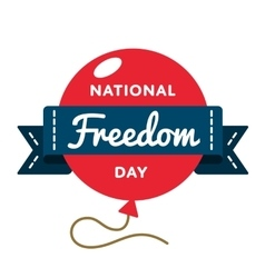 National freedom day greeting emblem vector