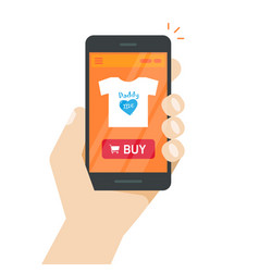 Online store on mobile phone internet shop vector