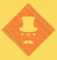 Hipster accessories design  red scribble vector
