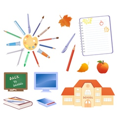 Back to school objects vector