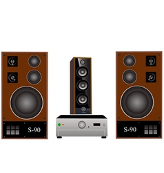 Amplifier and speakers vector