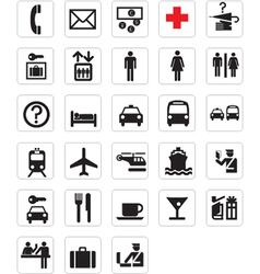 tourist locations icon set vector image