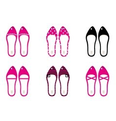 Beautiful lady shoes isolated on white - pink vector image
