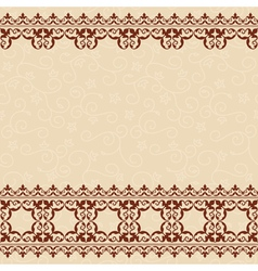 Light beige seamless background with border vector