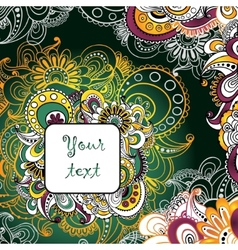 Unique hand drawn abstract floral background with vector