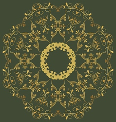 Abstract circular ornament in oriental style vector