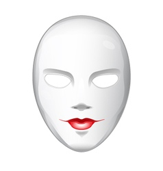 Naked white mask vector