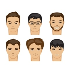 Collection of men with different hairstyles vector image