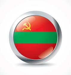 Transnistria flag button vector