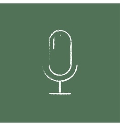 Microphone icon drawn in chalk vector