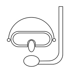 Diving mask icon in outline style vector