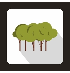Lot of trees icon flat style vector