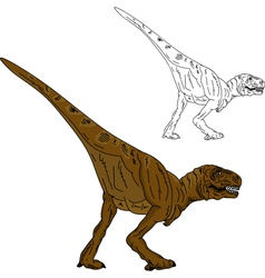 Dinosaur walking vector