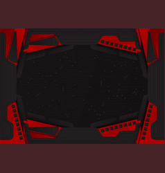 abstract black and red color background with copy vector image