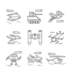 Abstract icons for military drones vector