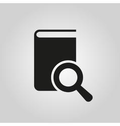 Book search icon design library symbol vector