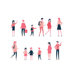Children - flat design style set of isolated vector