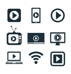 Collection icons live streaming desing graphic vector
